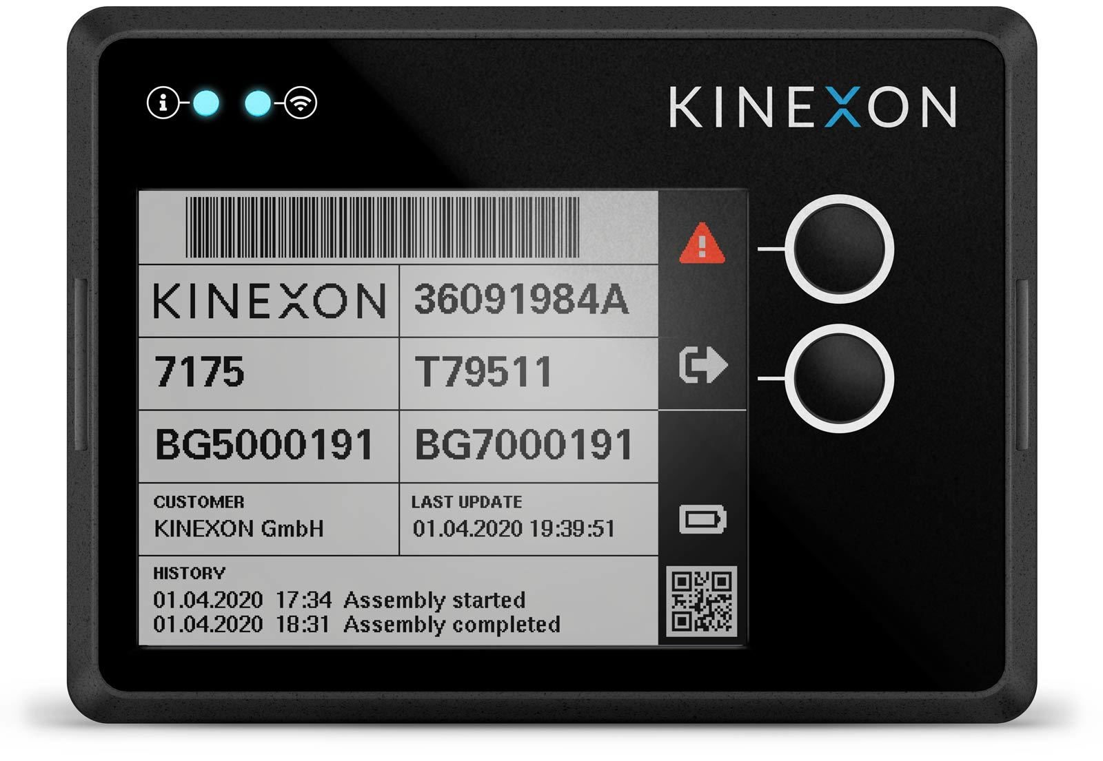 KINEXON eLabel Tag paperless tracking front