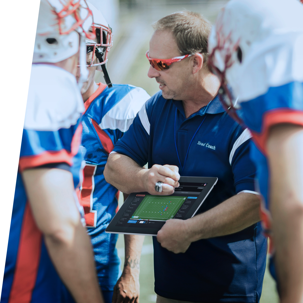 American Football Coach with KINEXON App