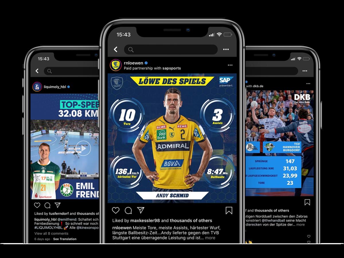 I Phone X App Mockup Social Media Handball website