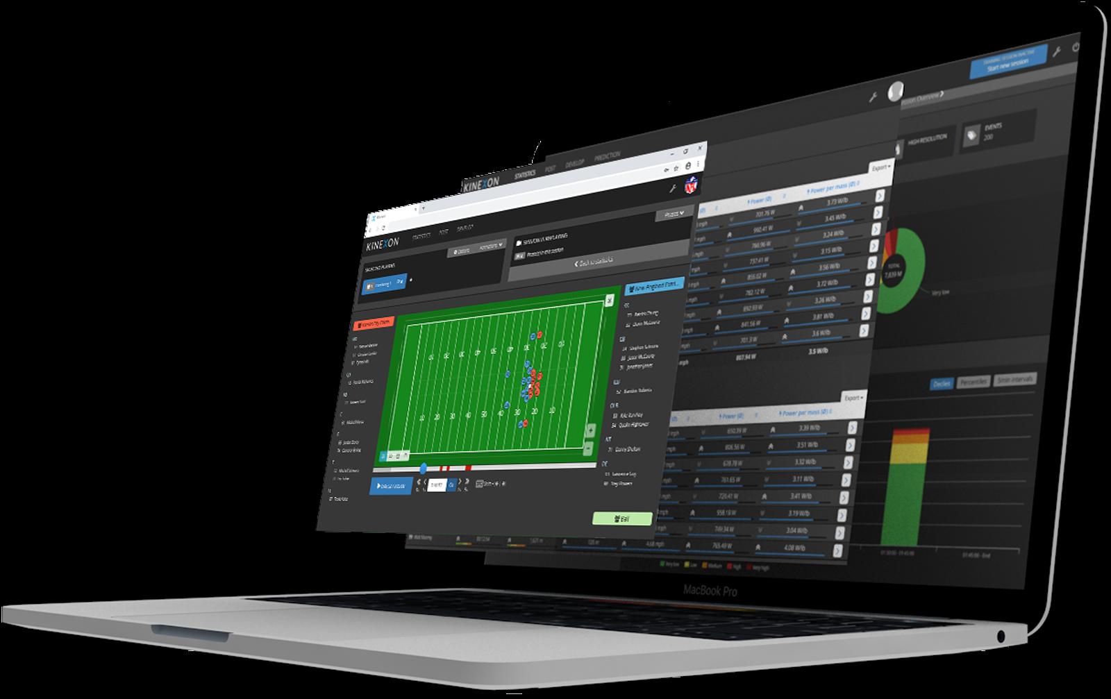 Macbook mockup Football website