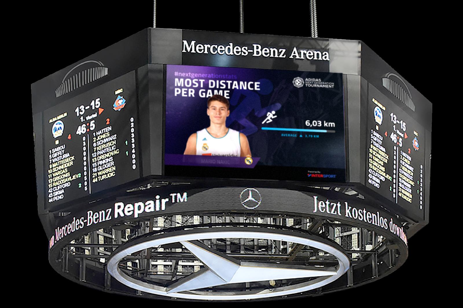 Media Daten im Stadion