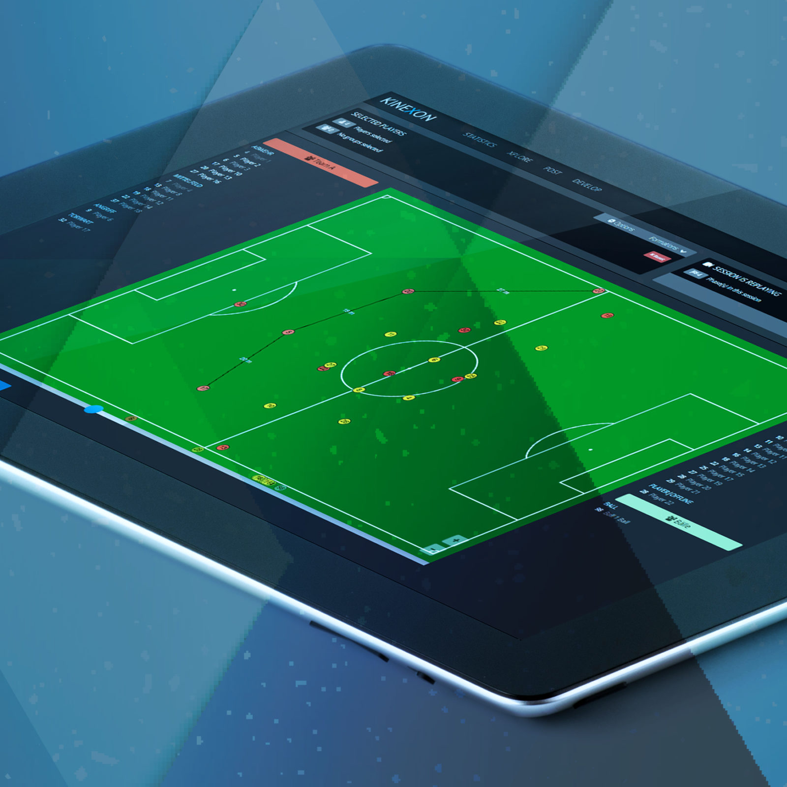 Clear, sport-specific, dynamic tactics board merge tactics planning and implementation