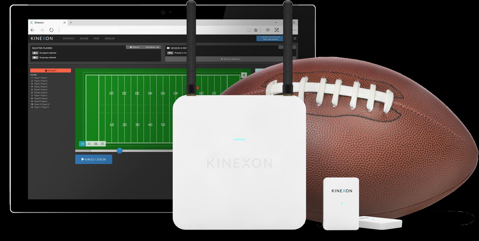 Renderings Football Products frontal website