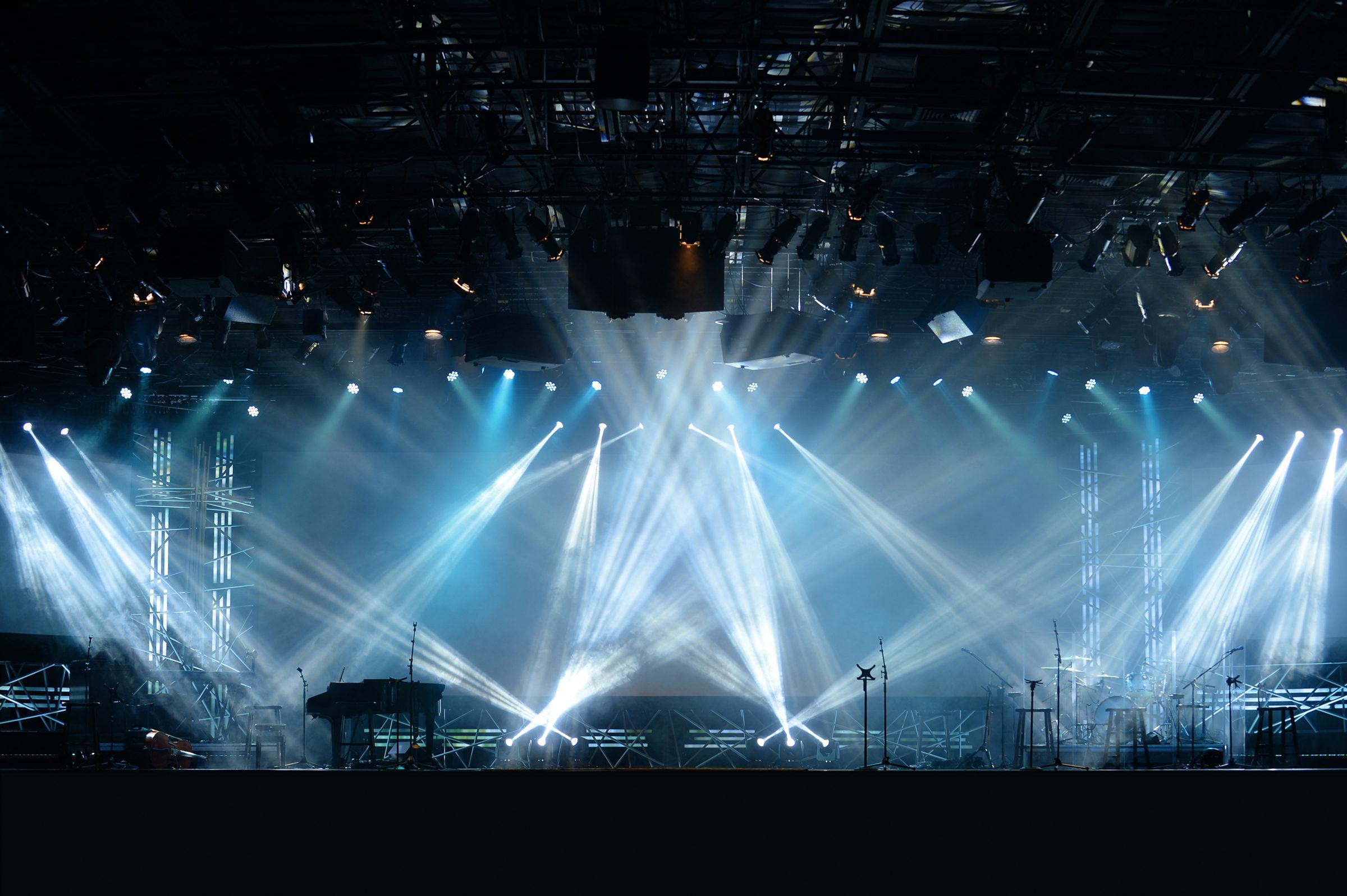 Lichter auf der Bühne