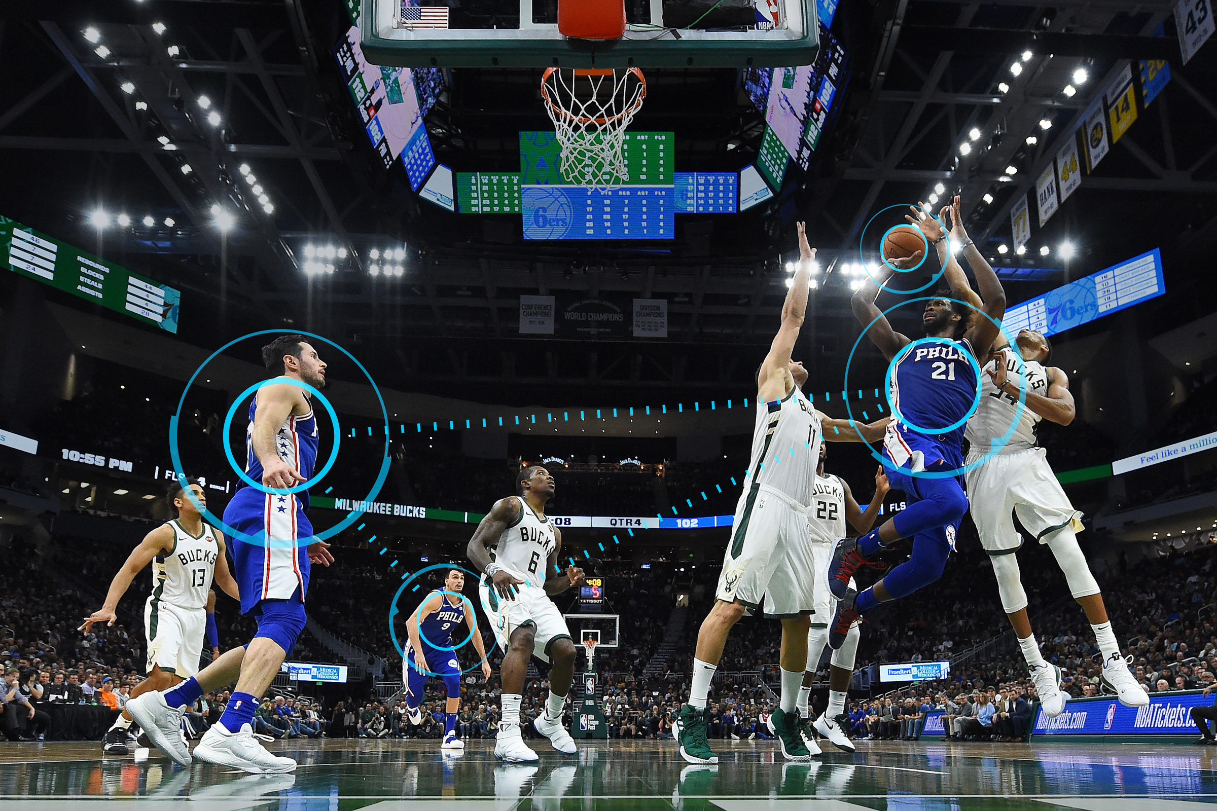 Philadelphia 76er gegen Milwaukee Bucks Spielsituation
