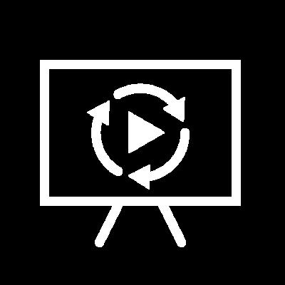 Icon Metriken Video Sync