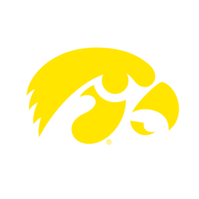 Iowa Hawkeyes Logo dark Background Website