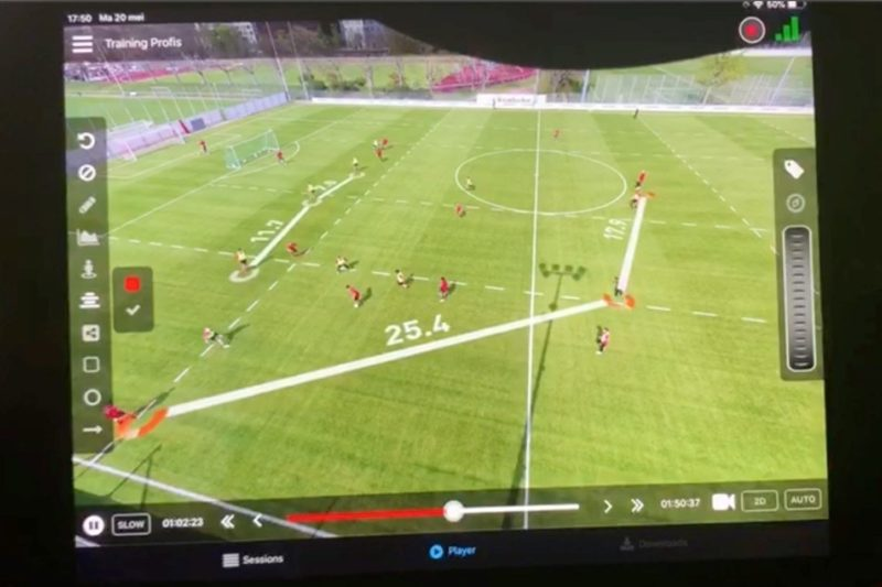 Live distance measurement in video analysis