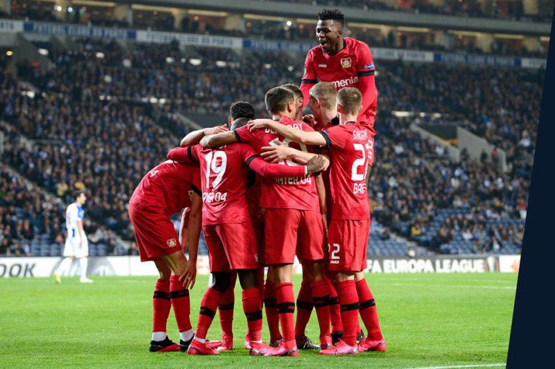 KINEXON Sports Football Bayer Players Hug