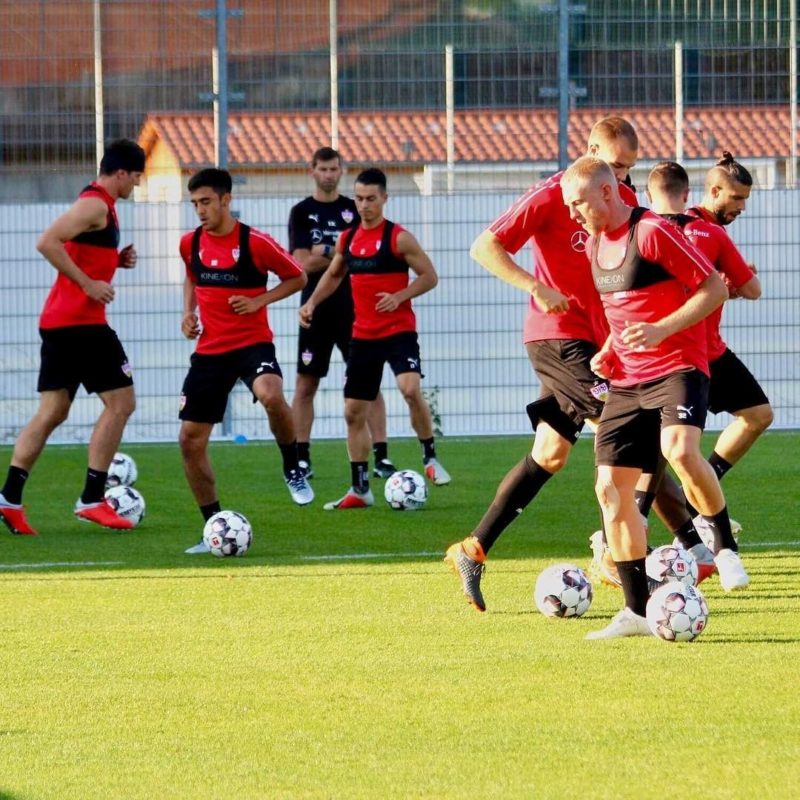 VfB Stuttgart training with KINEXON sensors