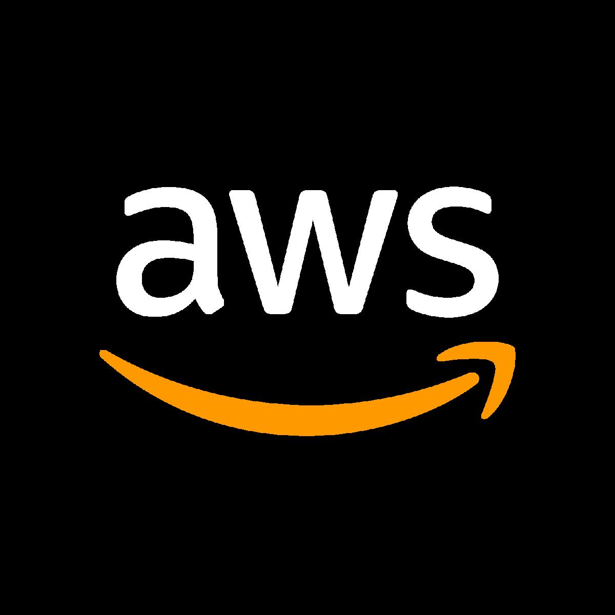 Amazon Web Services white Logo