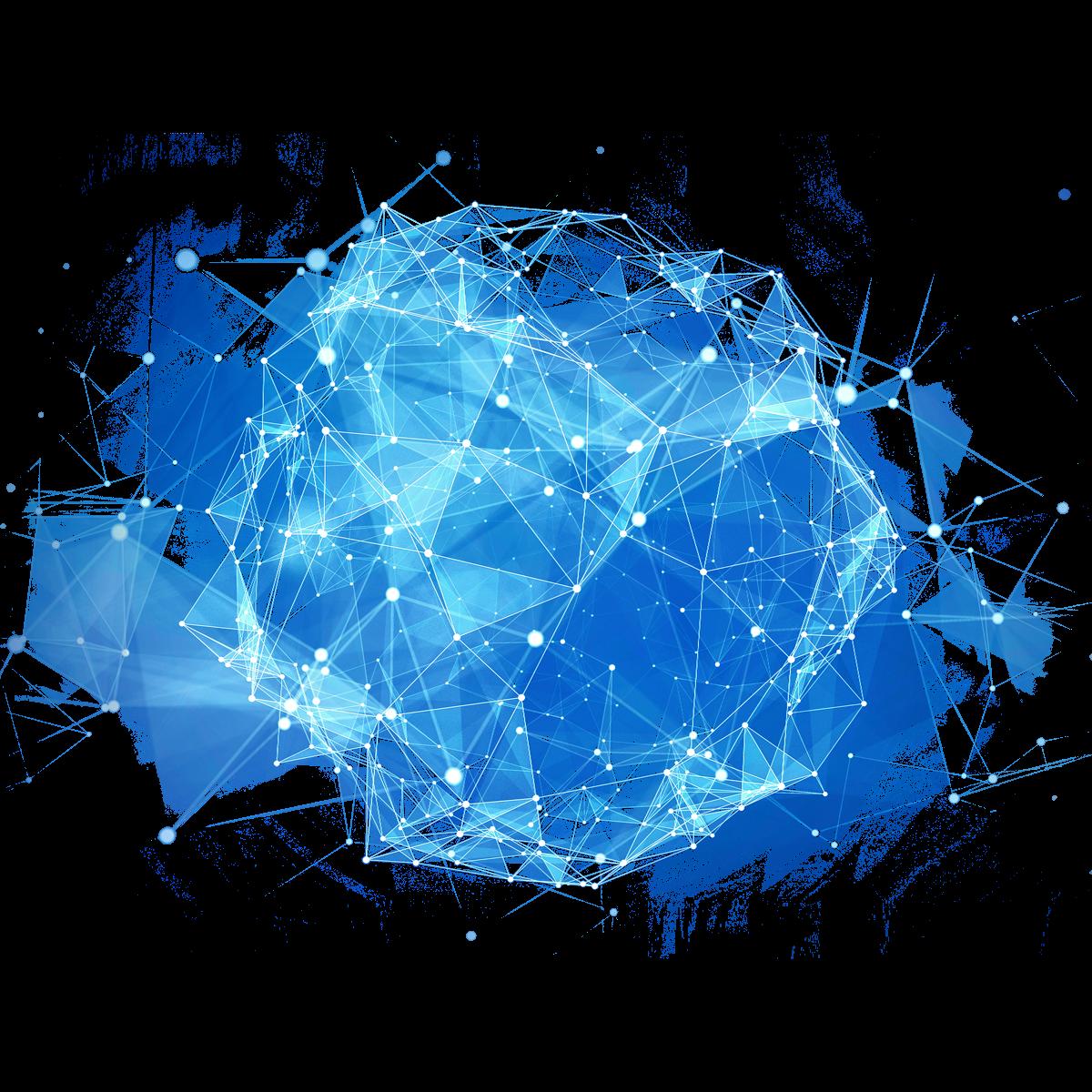 Illustration eines abstrakten Musters vor blauem Hintergrund